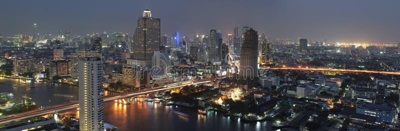 Opinión de la noche de Bangkok fotos de archivo