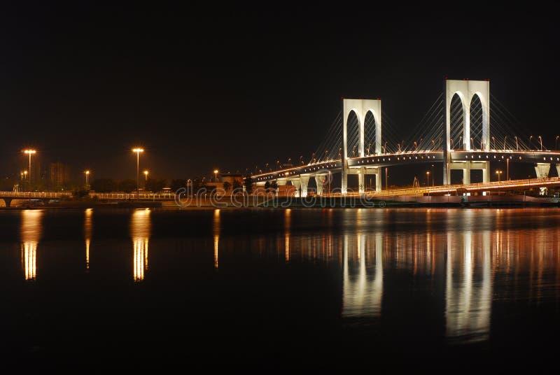 Opinión de la noche de Macau imagenes de archivo