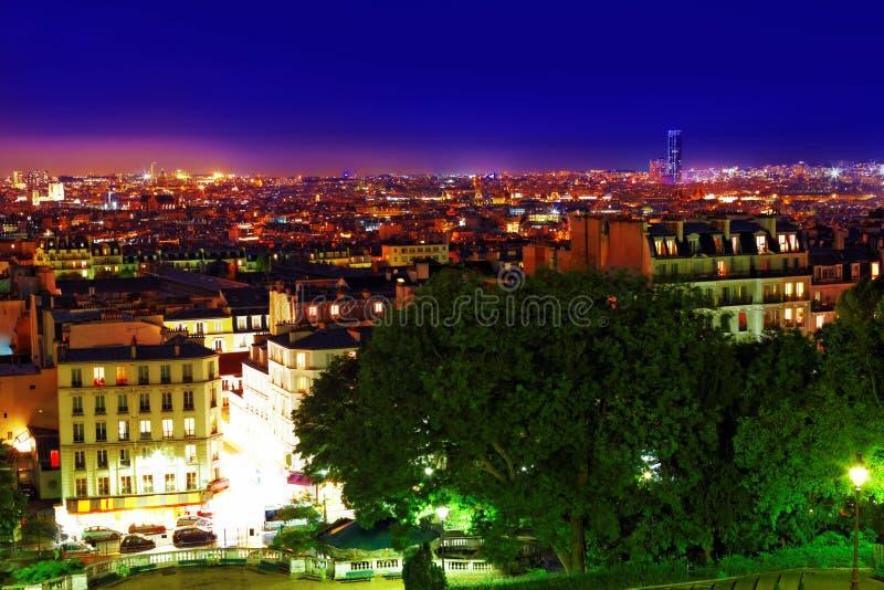 Opinión de la noche de París fotos de archivo