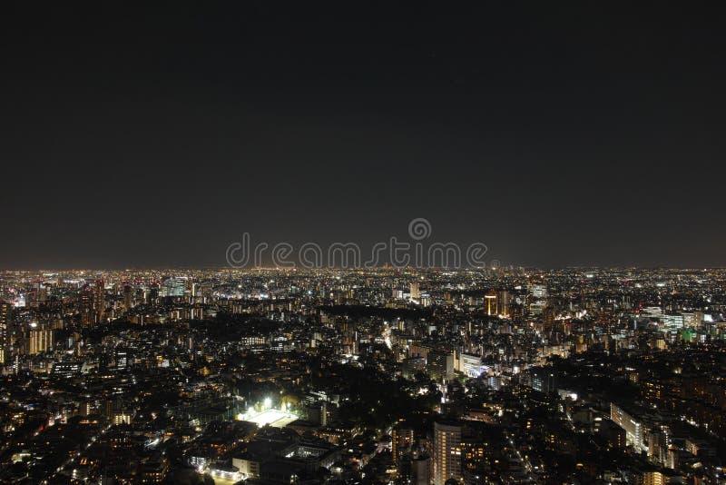 Opinión de la noche de Tokio fotografía de archivo libre de regalías