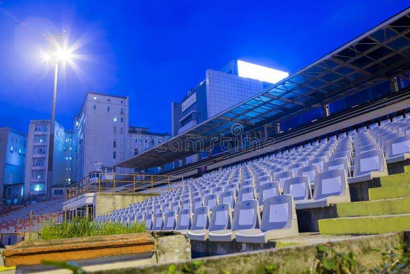 Opinión de la noche del área del VIP de Dinamo Bucuresti imagen de archivo libre de regalías