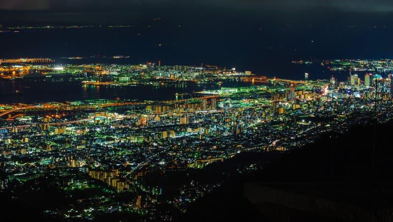 Opinión de la noche en la prefectura de Nagasaki imagen de archivo
