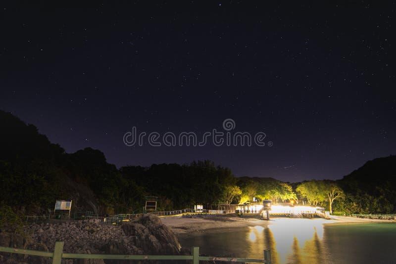 Opinión de la noche Hap Bay Beach foto de archivo libre de regalías