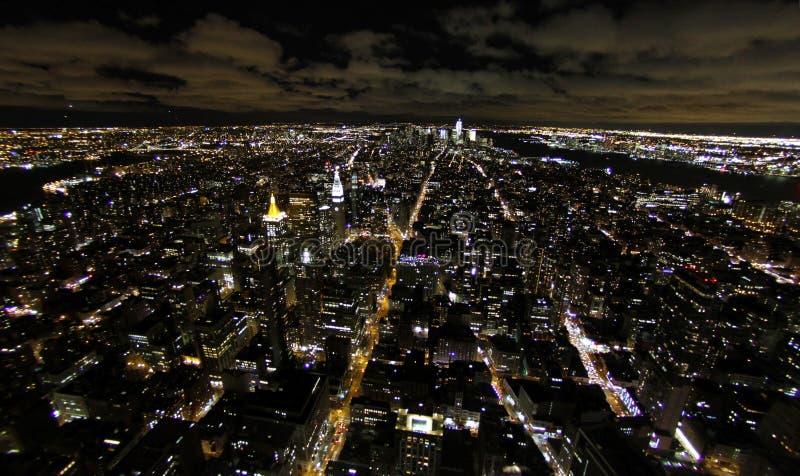 Opinión de la noche de Nueva York fotos de archivo