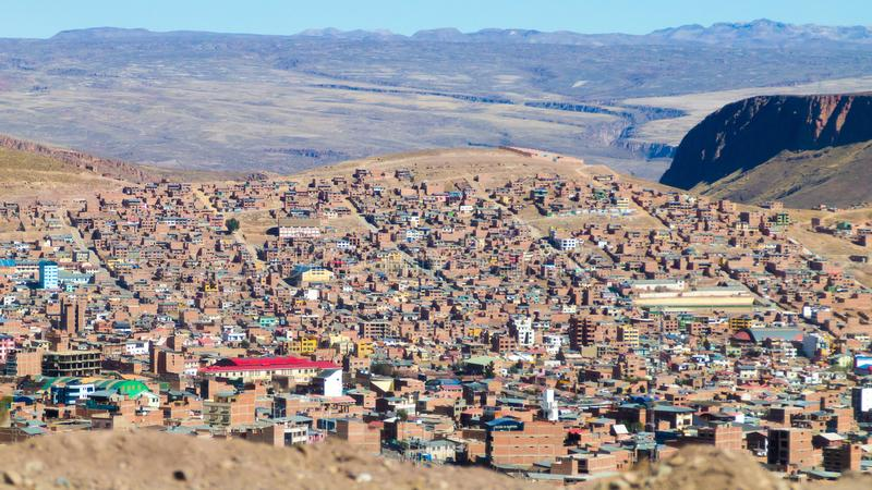 Opinión de La Paz de El Alto, Bolivia fotos de archivo libres de regalías