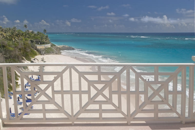 Opinión de la playa de la grúa fotografía de archivo libre de regalías