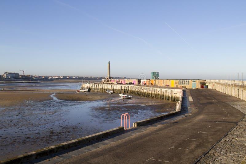 Opinión de la playa de Margate en Inglaterra fotografía de archivo