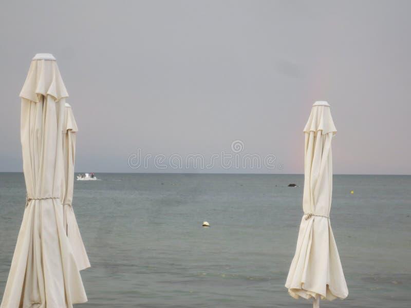 Opinión de la playa de Salónica fotografía de archivo libre de regalías
