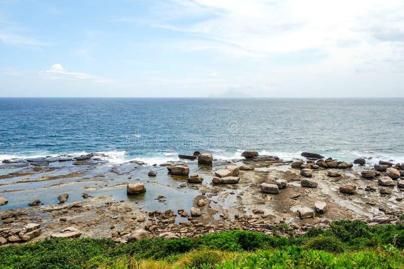 Opinión de la playa de la naturaleza de Taiwán foto de archivo libre de regalías