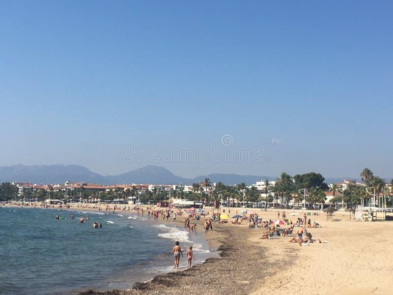 Opinión de la playa de Salou imagenes de archivo