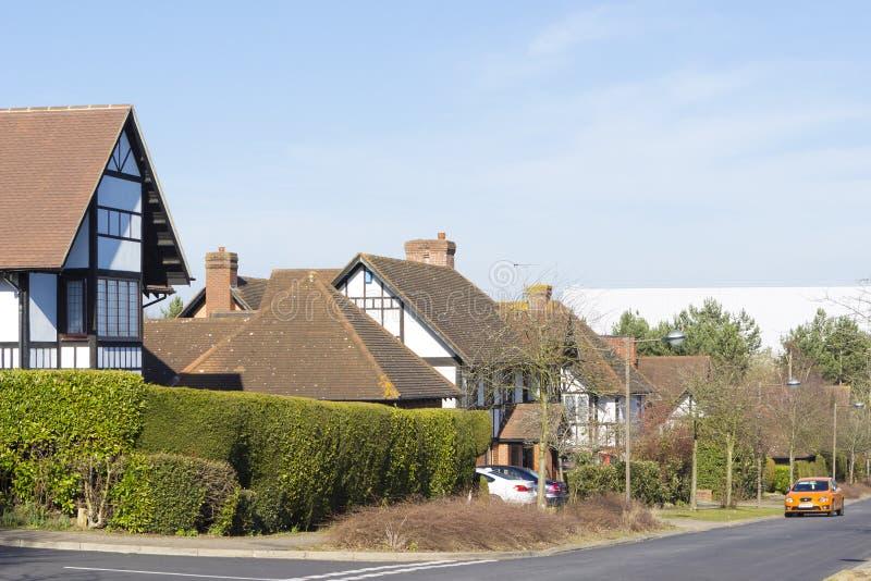 Opinión de la primavera en el área de la ceniza de dos millas en Milton Keynes, Inglaterra fotos de archivo