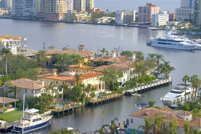 Opinión de la propiedad horizontal de Lauderdale imagen de archivo libre de regalías