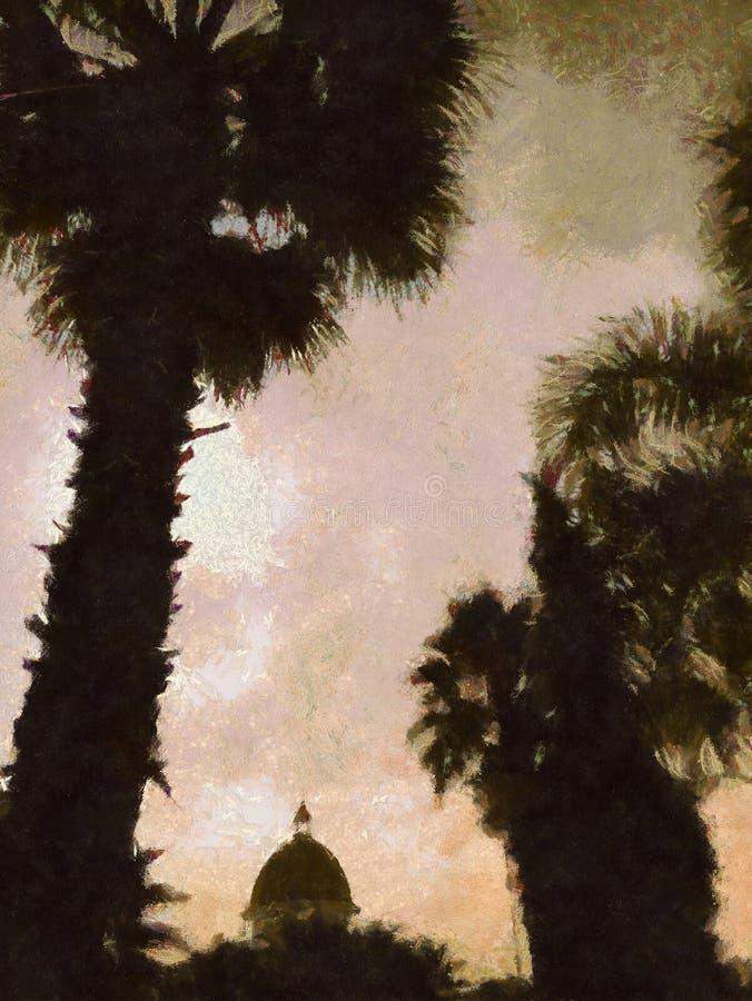 Opinión de la puesta del sol fotografía de archivo