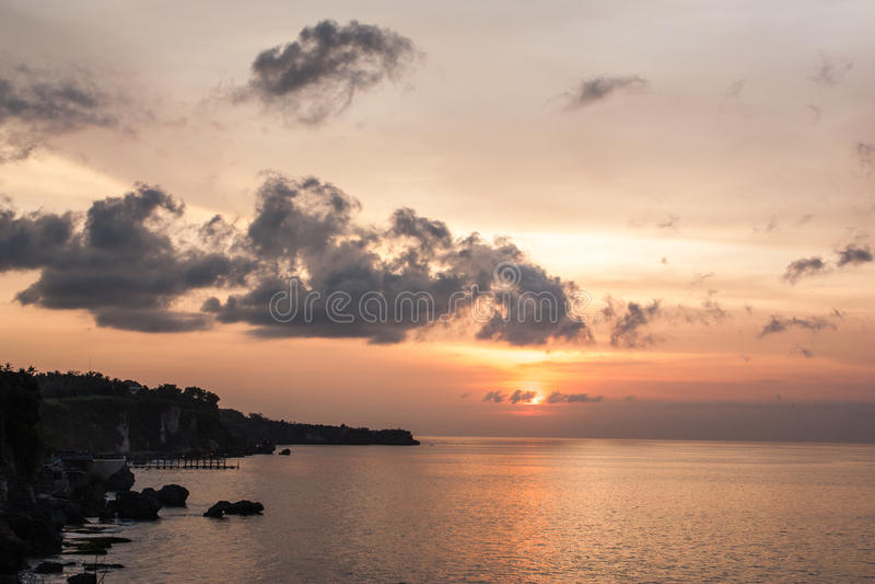 Opinión de la puesta del sol fotografía de archivo libre de regalías