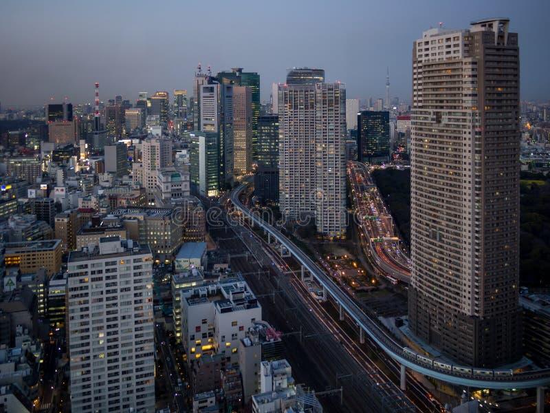 Opinión de la torre de Tokio del observatorio del World Trade Center fotos de archivo libres de regalías