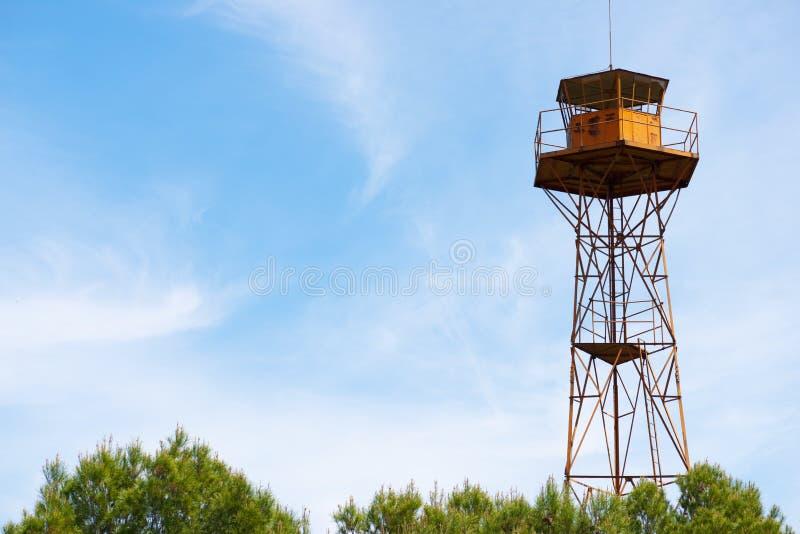 Opinión de la torre del reloj foto de archivo libre de regalías