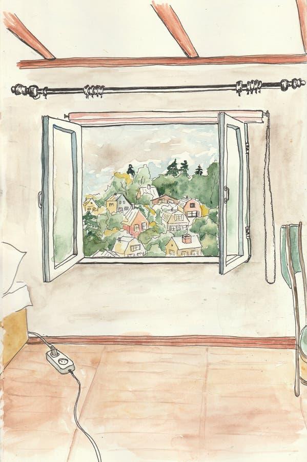 Opinión de la ventana imagen de archivo libre de regalías