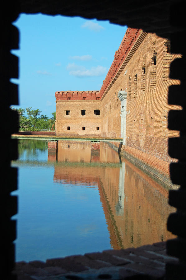 Opinión de la ventana de jefferson de la fortaleza fotografía de archivo libre de regalías