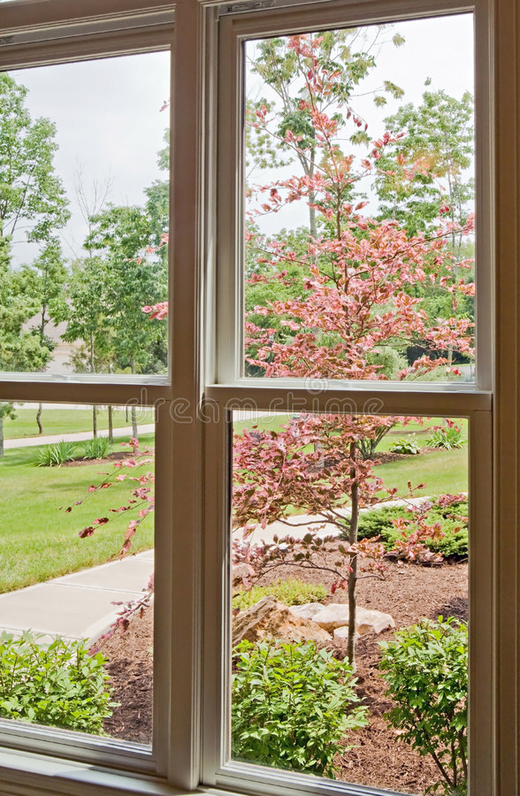 Opinión de la ventana de la yarda delantera imagen de archivo libre de regalías