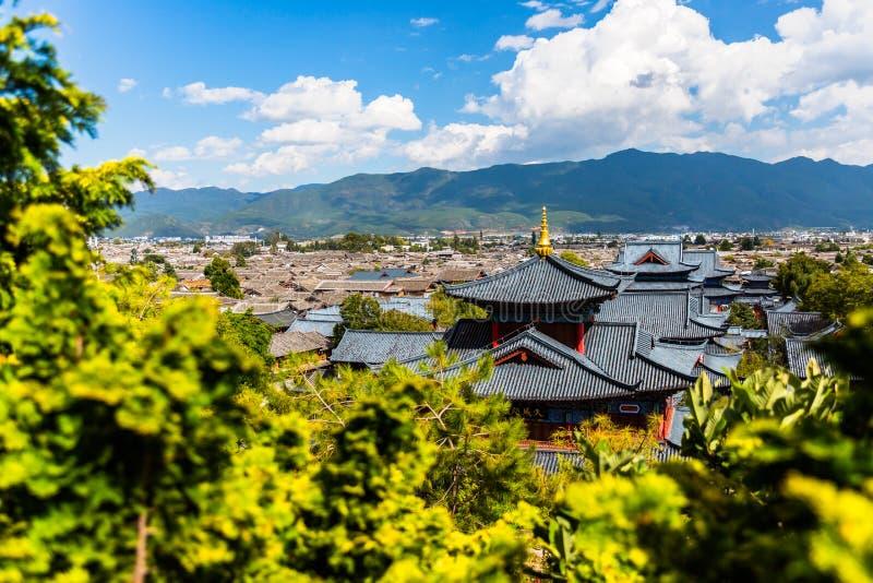 Opinión de Lijiang fotos de archivo libres de regalías