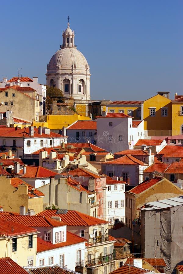 Opinión de Lisboa imagenes de archivo