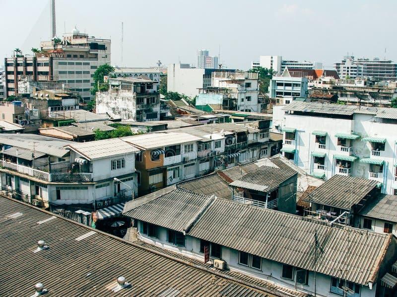 Opinión de los edificios y de la ciudad de Bangkok imagen de archivo