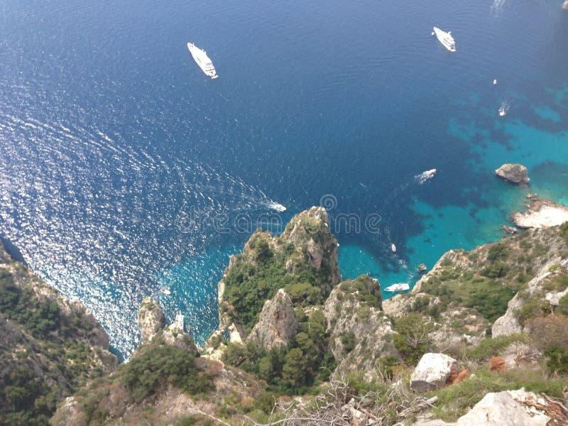 Opinión de los pájaros de Capri foto de archivo