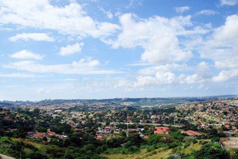 Opinión de los suburbios de Durban fotos de archivo libres de regalías