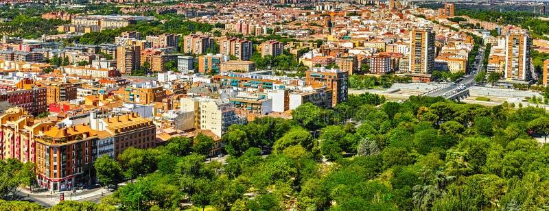 Opinión de Madrid imágenes de archivo libres de regalías