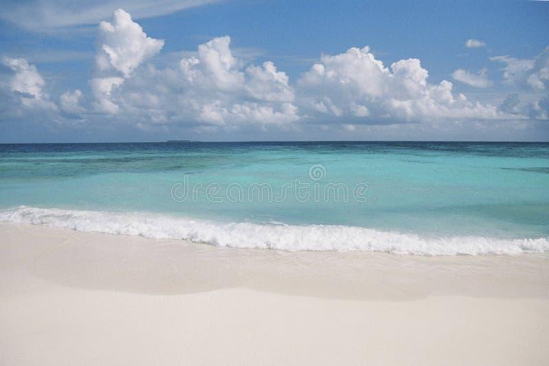 Opinión de Maldives fotografía de archivo