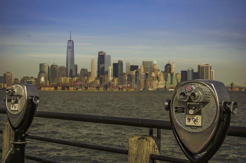 Opinión de Manhattan imágenes de archivo libres de regalías