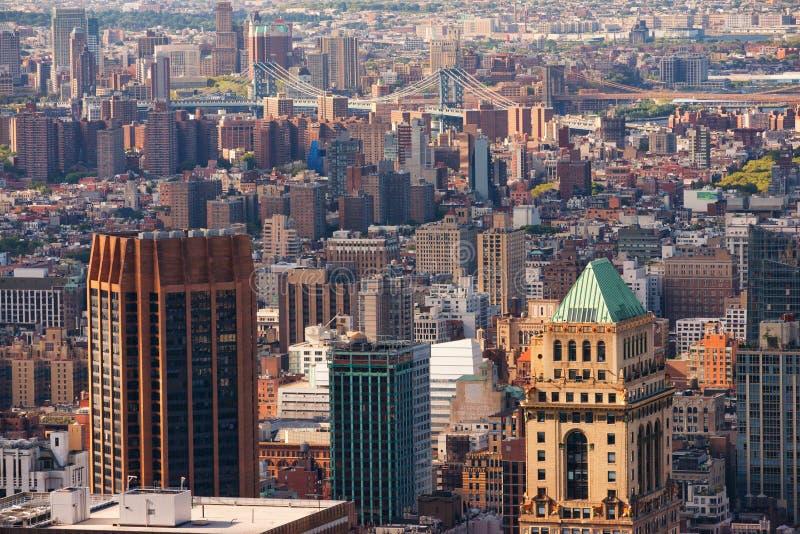 Opinión de Manhattan del tejado fotografía de archivo