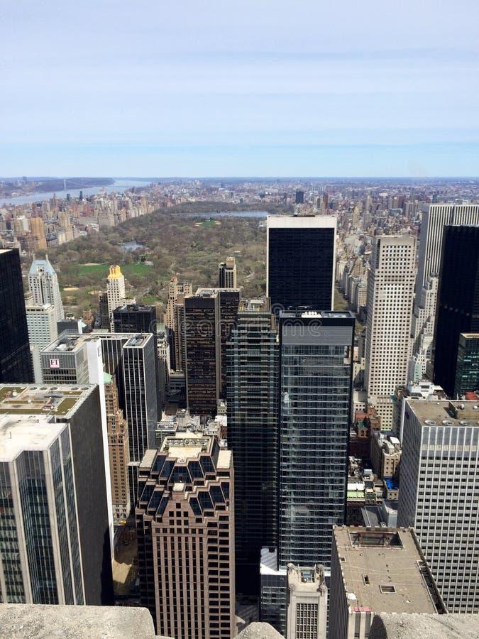 Opinión de Manhattan y de Central Park en NYC, los E.E.U.U. fotografía de archivo libre de regalías