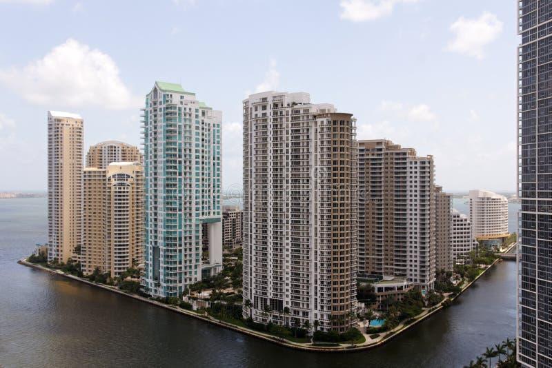 Opinión de Miami hacia el clave de Brickell imagenes de archivo