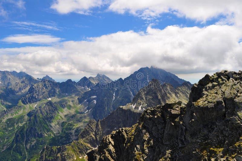 Opinión de Mointain, paisaje, Eslovaquia, alto Tatras fotos de archivo