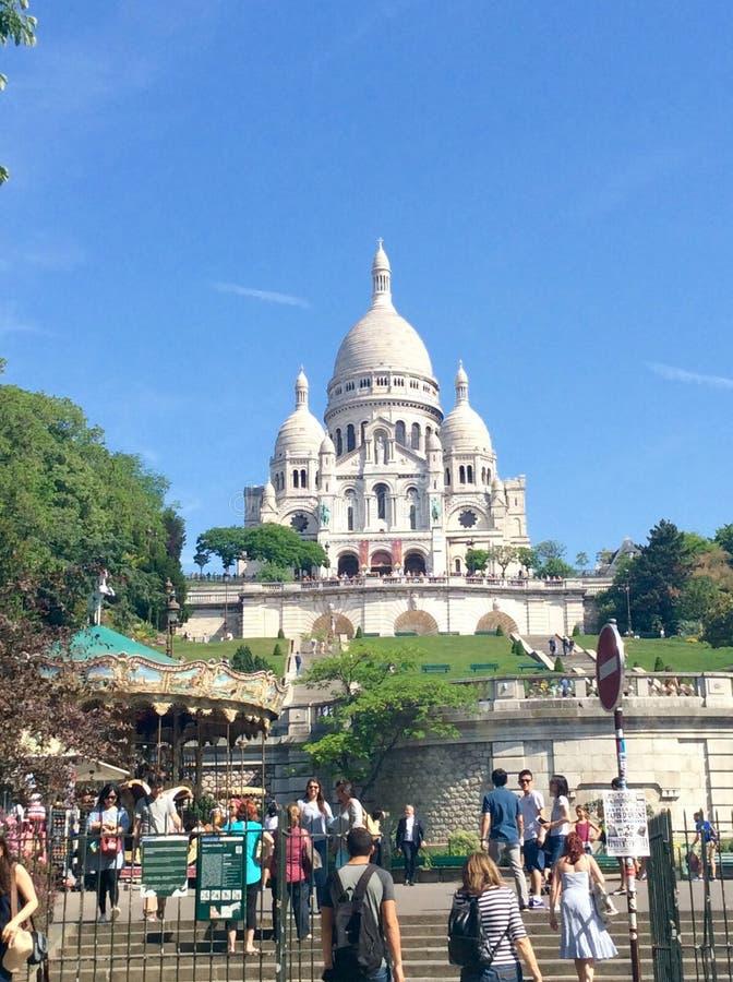Opinión de Montmartre foto de archivo libre de regalías