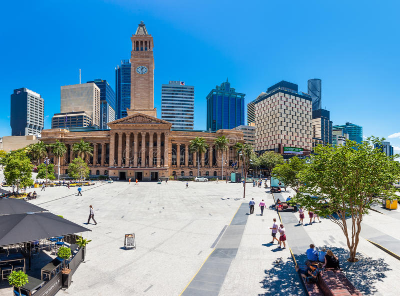 Opinión de ojo de pescados ayuntamiento Brisbane fotografía de archivo