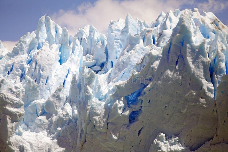 Opinión de Perito Moreno Glacier de Brazo Rico en Argentino Lake en la Patagonia, la Argentina fotos de archivo
