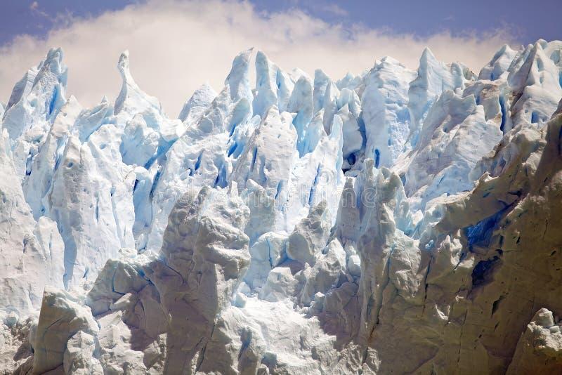 Opinión de Perito Moreno Glacier de Brazo Rico en Argentino Lake en la Patagonia, la Argentina imágenes de archivo libres de regalías