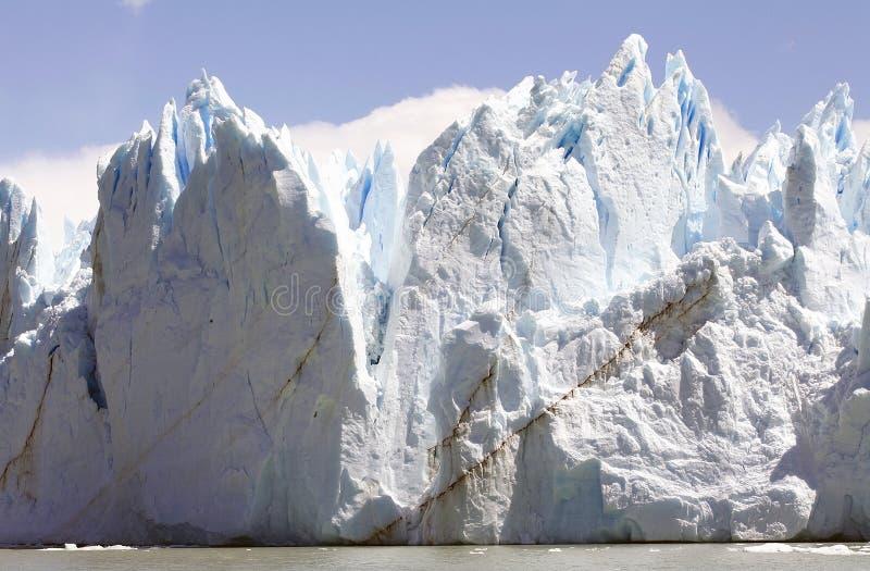 Opinión de Perito Moreno Glacier de Brazo Rico en Argentino Lake en la Patagonia, la Argentina foto de archivo libre de regalías