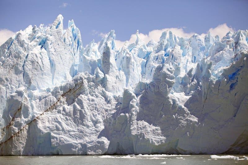 Opinión de Perito Moreno Glacier de Brazo Rico en Argentino Lake en la Patagonia, la Argentina fotos de archivo libres de regalías