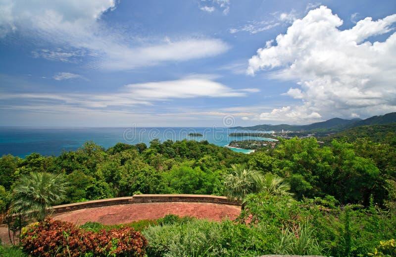 Opinión de Phuket imagen de archivo