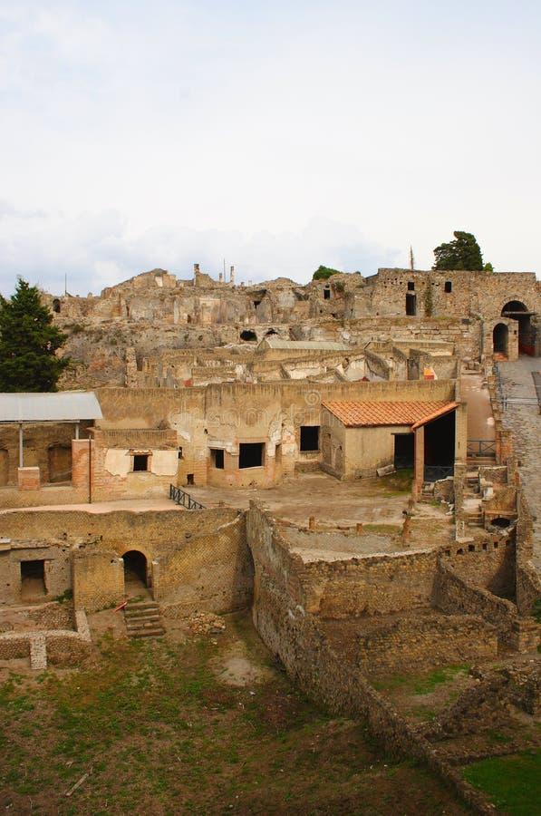 Opinión de Pompeii fotos de archivo