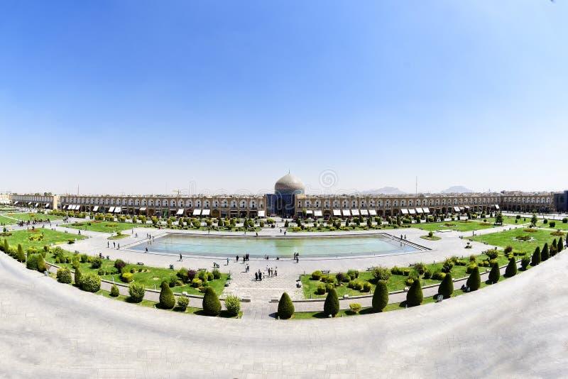 Opinión de Pranoramic de la mezquita de Naqsh-e Jahan en Esfahan, Irán foto de archivo libre de regalías