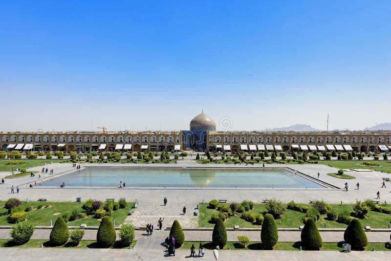 Opinión de Pranoramic de la mezquita de Naqsh-e Jahan en Esfahan, Irán imagen de archivo libre de regalías