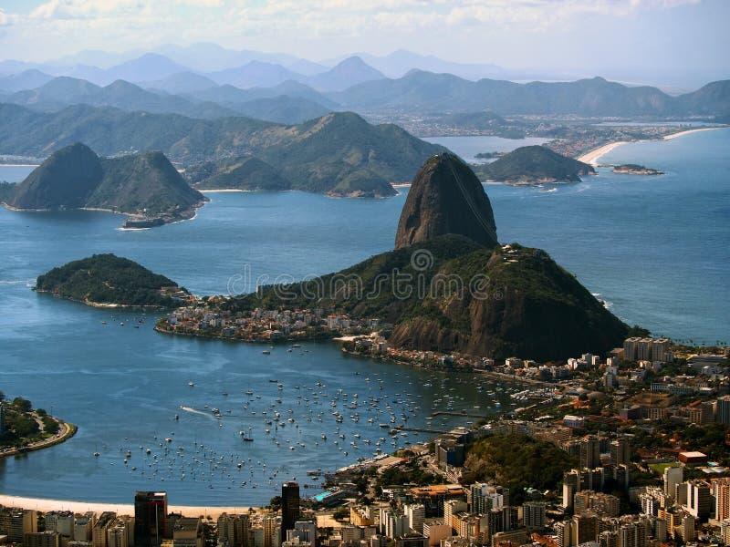Opinión de Rio de Janeiro de Corcovado foto de archivo libre de regalías