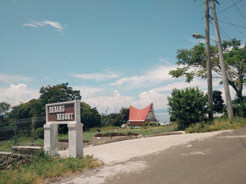 Opini?n de Rumah Bolon en Silahisabungan, lago Toba, Sumatra del norte, Indonesia imágenes de archivo libres de regalías