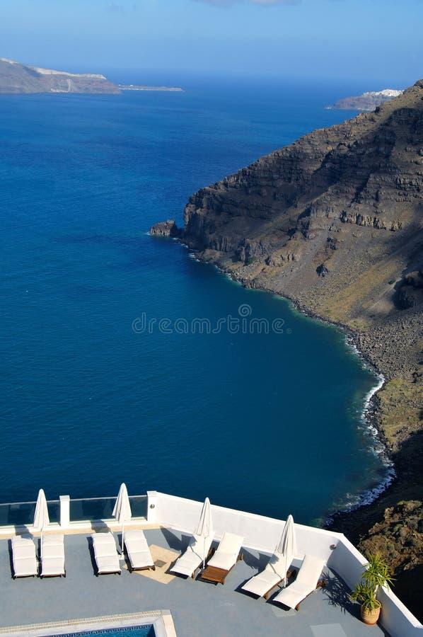 Opinión de Santorini imagen de archivo libre de regalías