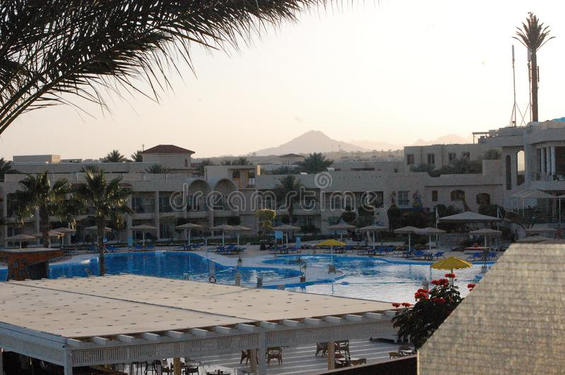 Opinión de Sharm El Sheikh en el hotel fotografía de archivo libre de regalías
