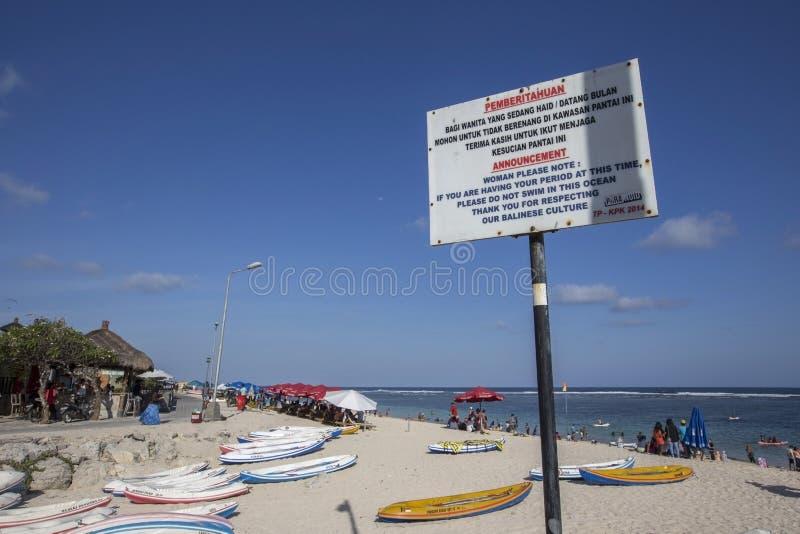 Opinión de Snenic de la playa de Pendawa en Bali fotos de archivo libres de regalías